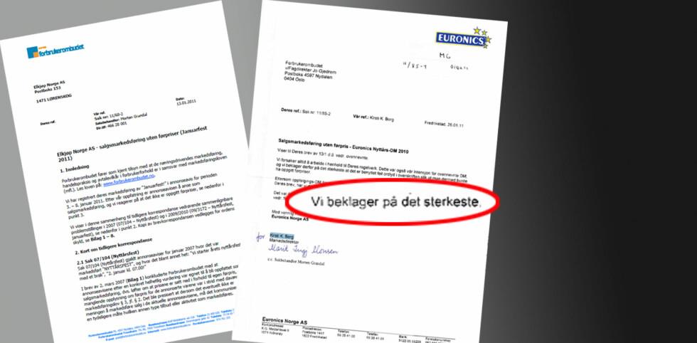 Euronics er en av butikkjedene som har lagt seg flate etter Forbrukerombudets kritikk av januarsalget.