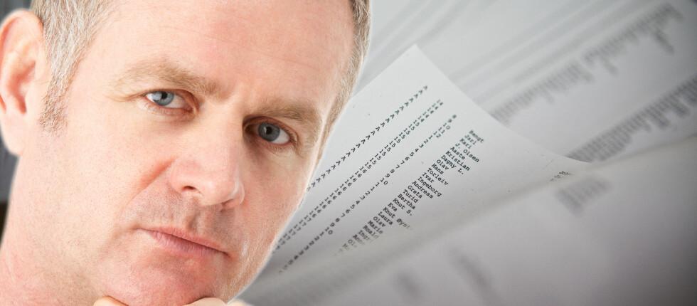 Mann, 41 år, fra Oslo, med lønn under snittet? Mange som sliter med betalingsanmerkninger faller under disse kategoriene. Foto: Per Ervland, Colourbox.com/Kim Jansson