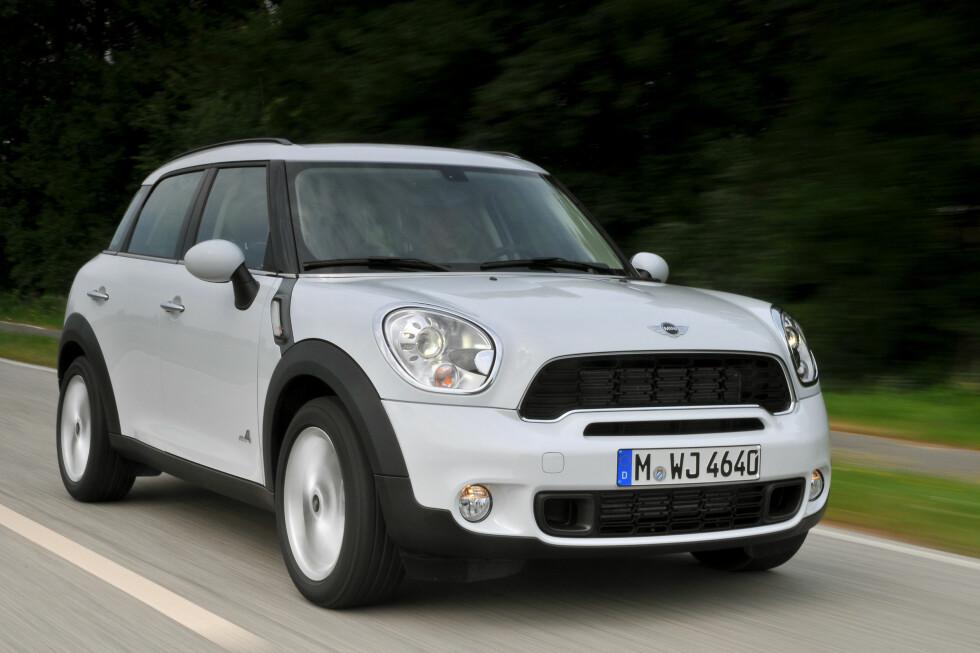 I Countryman kan du få den nye motoren i kombinasjon med firehjulsdrift Foto: Mini