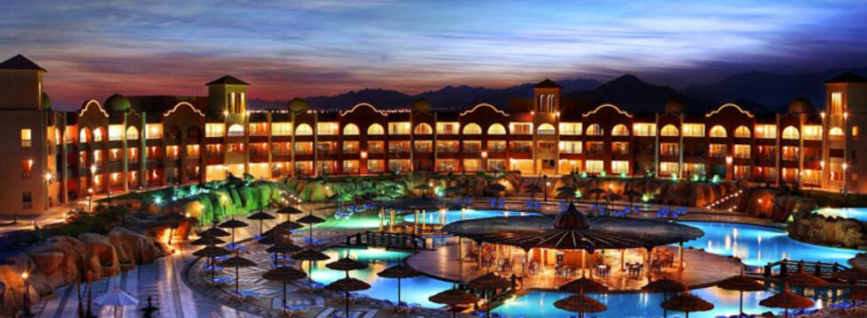 """Dette bildet er tatt fra """"SunFamily Sunrise Tirana Aquapark"""", som ligger på Sharm el Sheikh i Egypt. Foto: Ving.no"""