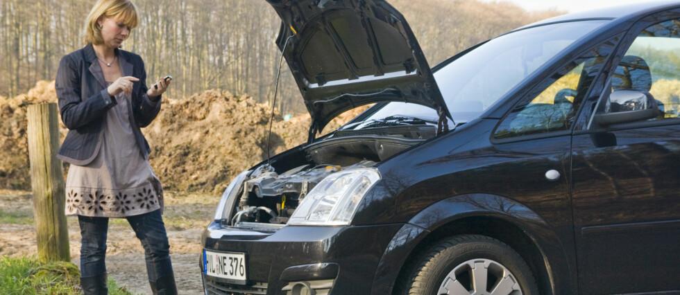FLEST FÅR MOTORPROBLEMER: Halvparten av de som må berges, har motortrøbbel, men overraskende mange har problemer som er selvforskyldte. Foto: Colourbox.com