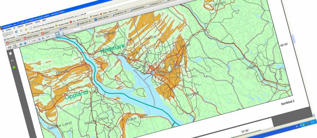 <strong>ALUNSKIFER:</strong> Nye kart viser hvilke områder som har mye alunskifer, og derfor er ekstra utsatt for radon. Foto: NGU