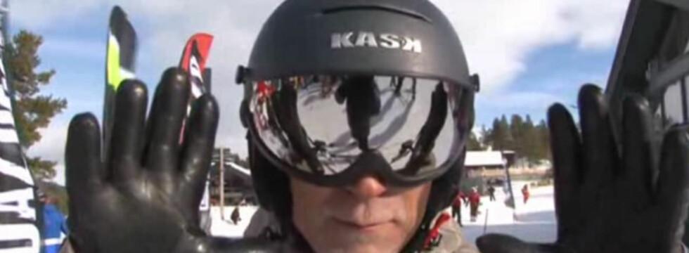 Blir dette en trend? Skihjelm med integrerte briller er blant nyhetene. Foto: skiguiden.no