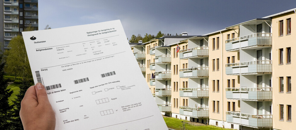 Dersom du ikke fylte ut dette skjemaet i høst, bør du snarest melde fra til Skattekontoret i din kommune om hvor stor boligen din er. Foto: PER ERVLAND