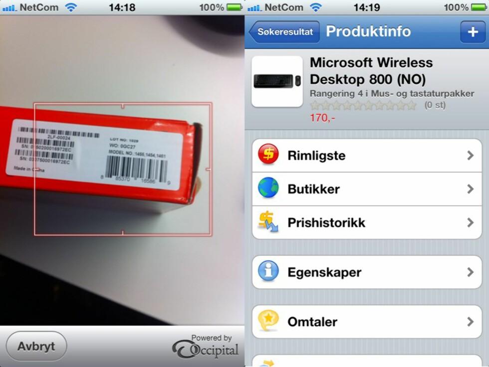 Ved hjelp av Prisjakt sin iPhone-applikasjon kunne vi raskt finne et tastatur som Elprice tar 399 kroner for, til 170 kroner i en annen butikk.