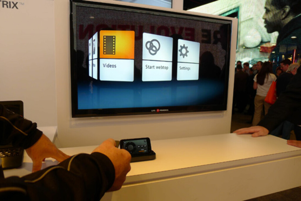 Elegant brukergrensesnitt for å se innhold på TV-en.
