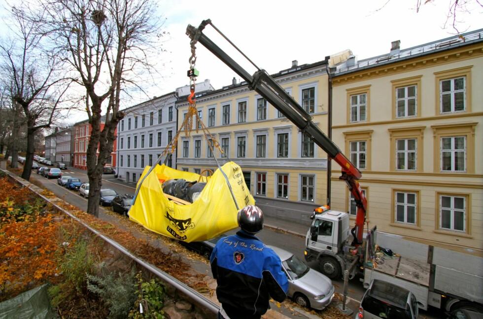 PUSSE OPP ELLER FLYTTE? Container er ikke den eneste muligheten. iSekk ble løsningen for familien Sneen. Foto: Arne Sneen