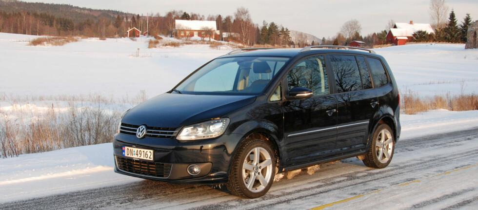 Touran er en jevnt god bil, men mangler de virkelige høydepunktene Foto: Cato Steinsvåg