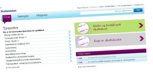 """Enkelt å endre: Har du fått urimelig høy - eller lav ligningstakst på boligen din, kan du selv gå inn og endre dette på Skatteetatens nettsider, under """"endre og bestill nytt skattekort"""". Foto: Skatteetaten.no"""