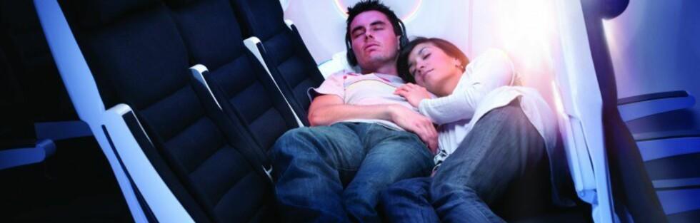 Kosesete for to, som gir langt større muligheter for en hvil enn vanlige økonomiklasse-seter. Foto: Air New Zealand