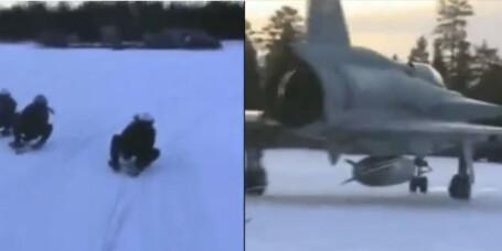 Svenske jagerflyvere finner opp ekstremsport på nytt