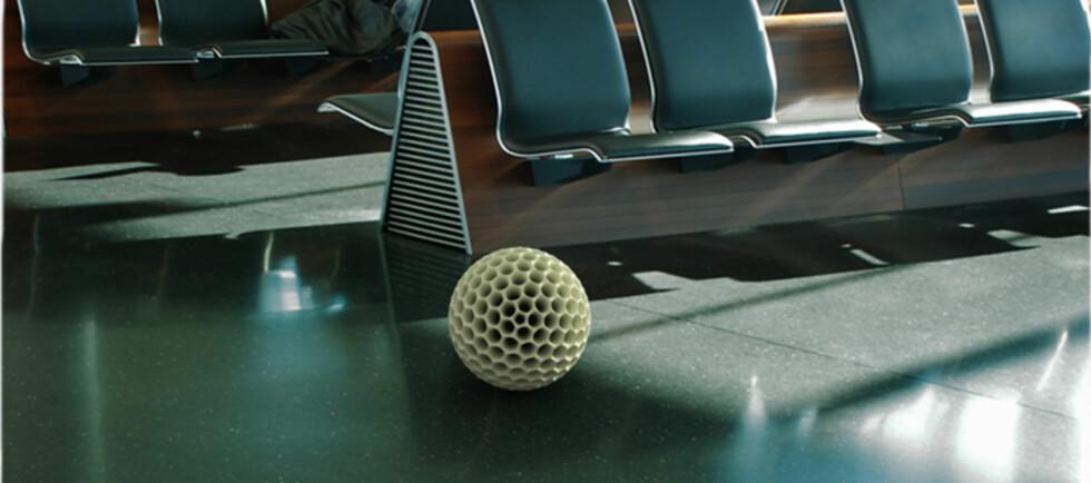 Dust Ball er først og fremst designet med tanke på offentlige arealer. Foto: Dave Hakkens