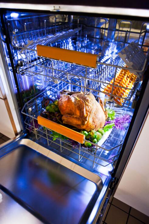 IKKE VÆR EN KYLLING: Neste gang damper du kalkunen i oppvaskmaskinen. Foto: Electrolux
