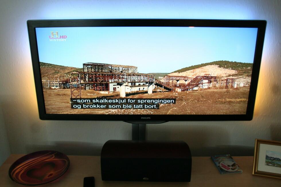 HD-sending, automatisk skalert via TV-ens autofyll-funksjon. På HD-sendinger gjør den en god figur. Foto: Øyvind Paulsen