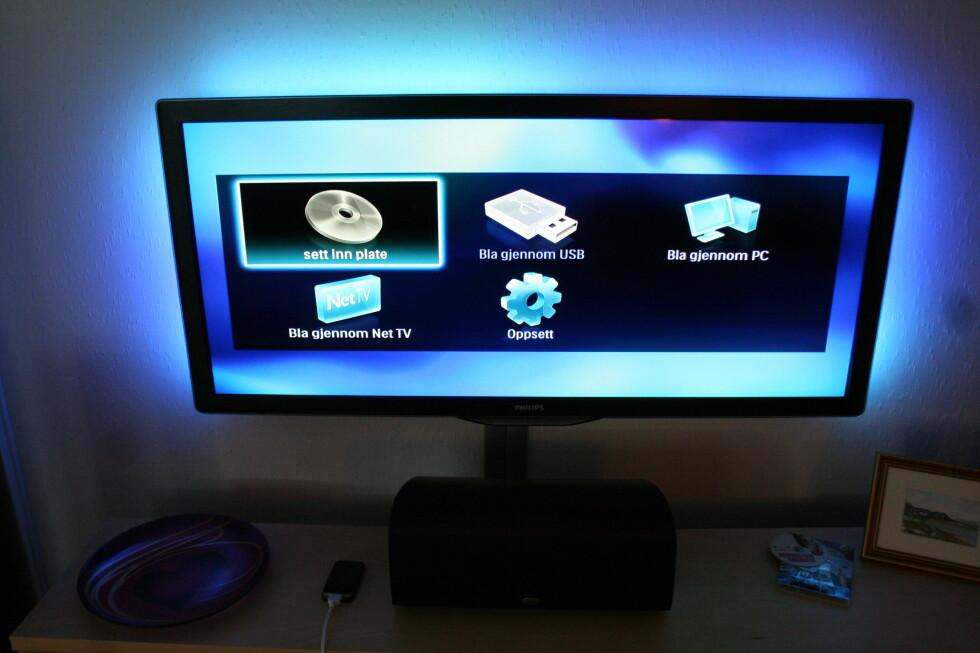 Vi brukte Philips BDP9600 under vår test. Det er en 3D-klar Blu-ray spiller, her er menybildet. Foto: Øyvind Paulsen