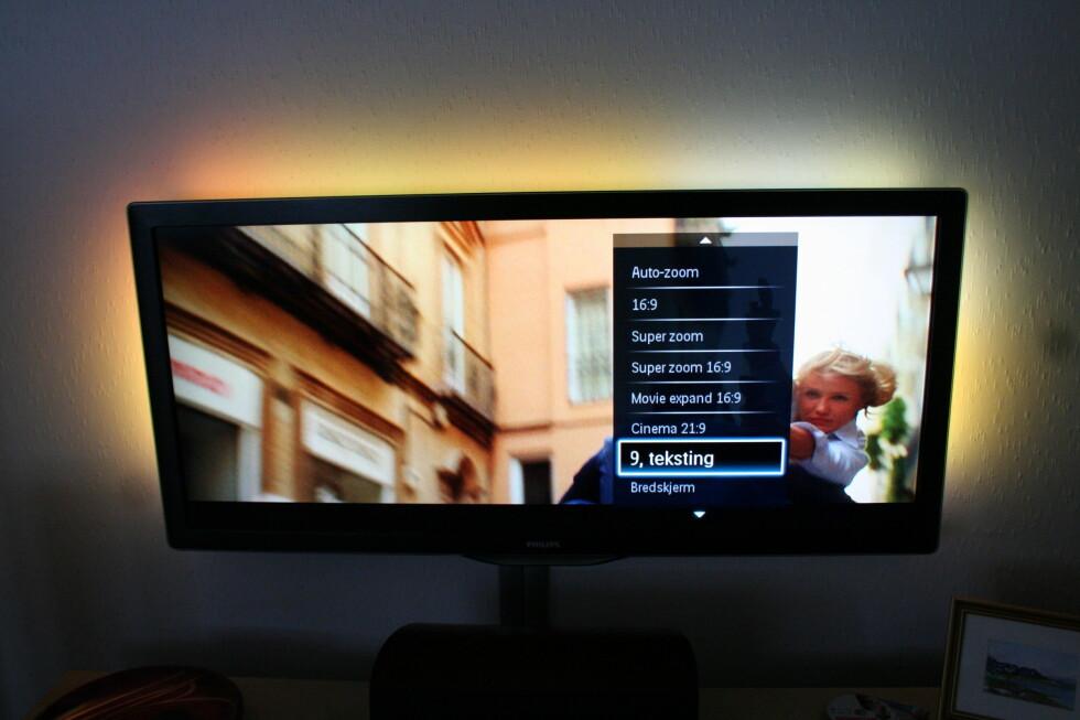 <strong>Hvis du ikke har en Blu-ray spiller som lar deg flytte underteksten, kan du også velge 21:</strong>9 undertekst, for å få den på plass nederst. Foto: Øyvind Paulsen