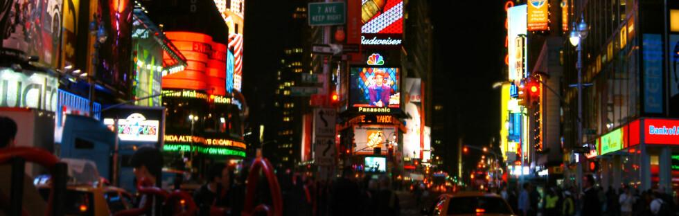 Fra Times Square i New York.            Foto: SXC