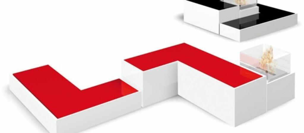 <B>TENK FIRKANT:</B> Designpeis konstruert etter et slags Tetris-prinsipp. Foto: produsenten