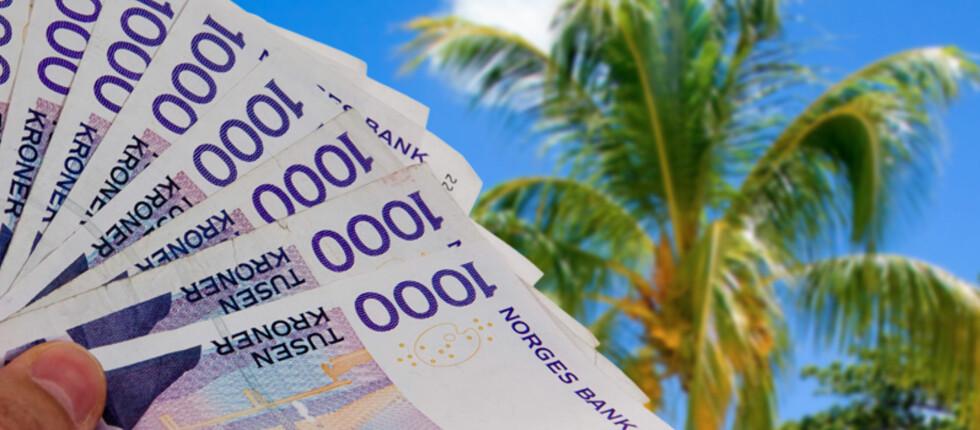 HVA PENGENE SKAL GÅ TIL: Tre av ti sier de skal bruke mer penger neste år enn i 2010. Mange sier pengene skal gå til reise. Foto: Per Ervland og Colourbox/Kim Jansson