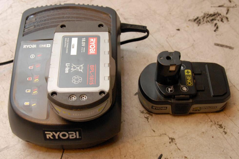 Li-ion lader og batterier Foto: Brynjulf Blix