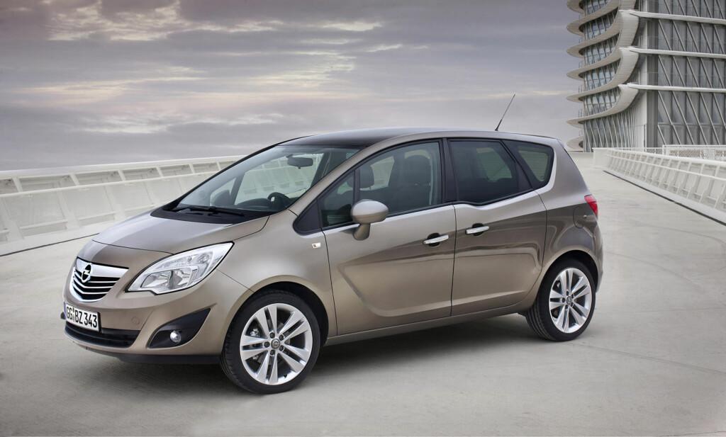 Opel Meriva ble henvist til tredjeplass.  Foto: Opel