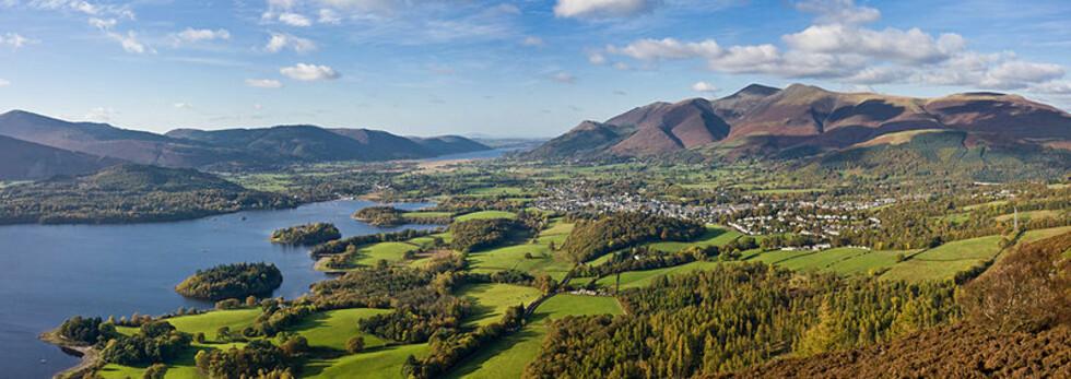 Utsikt mot landsbyen Keswick i Lake District. Foto: Wikimedia Commons