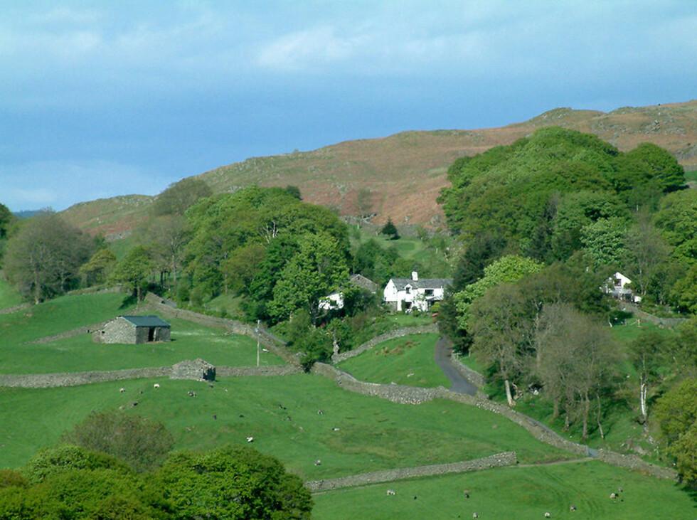 Slik ser gårdene i Lake District ut - litt Postmann Pat-aktig. Foto: Wikimedia Commons