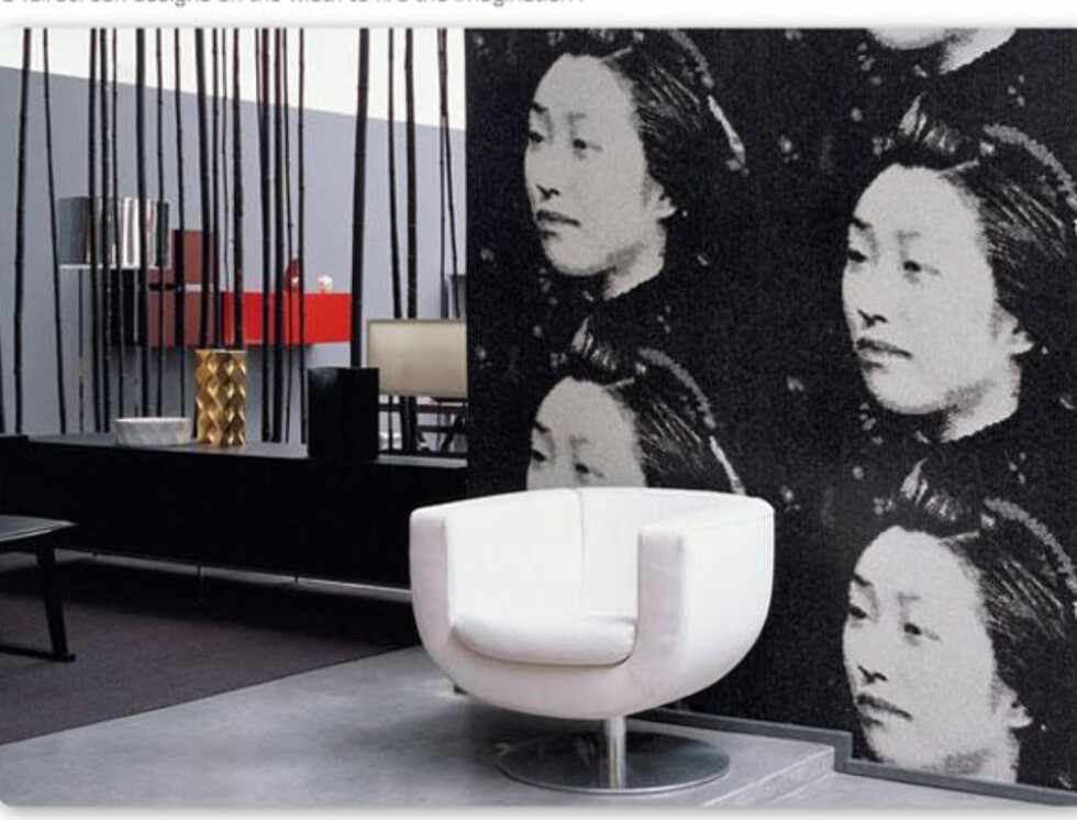 En asiatisk kvinne kan også piffe opp en leilighet. Denne er fra Élitis. Foto: Produsent