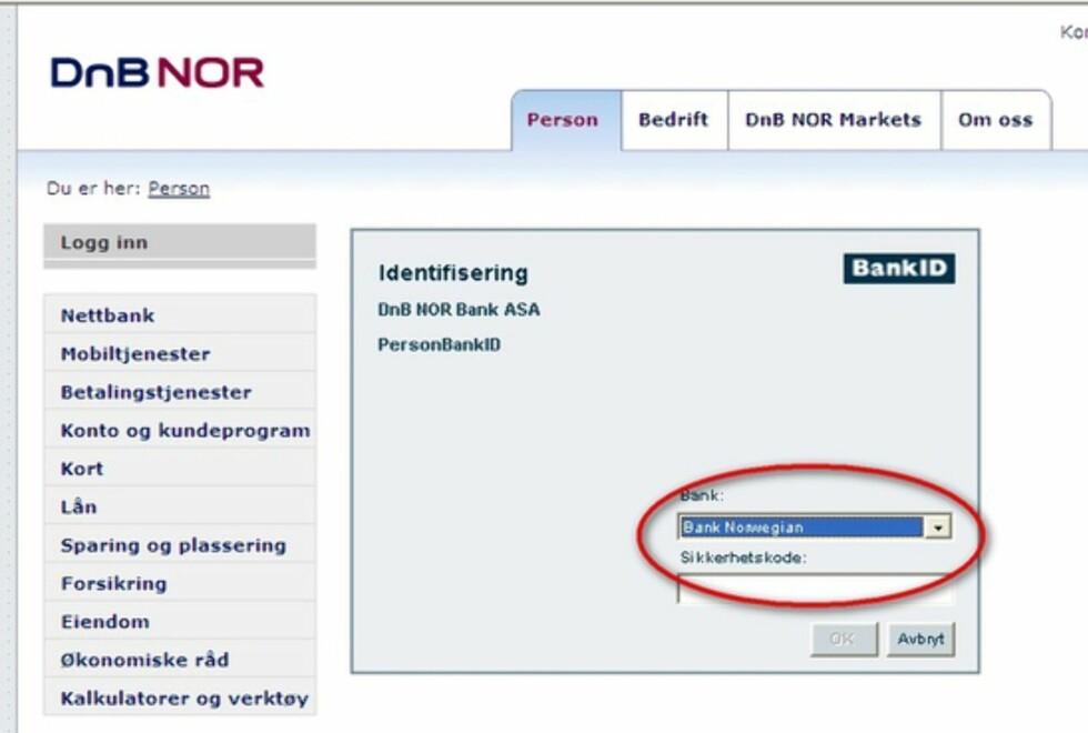 IKKE EN FEIL: Du skal kunne velge den bankID'en du selv vil - inne i hvilken som helst nettbank.