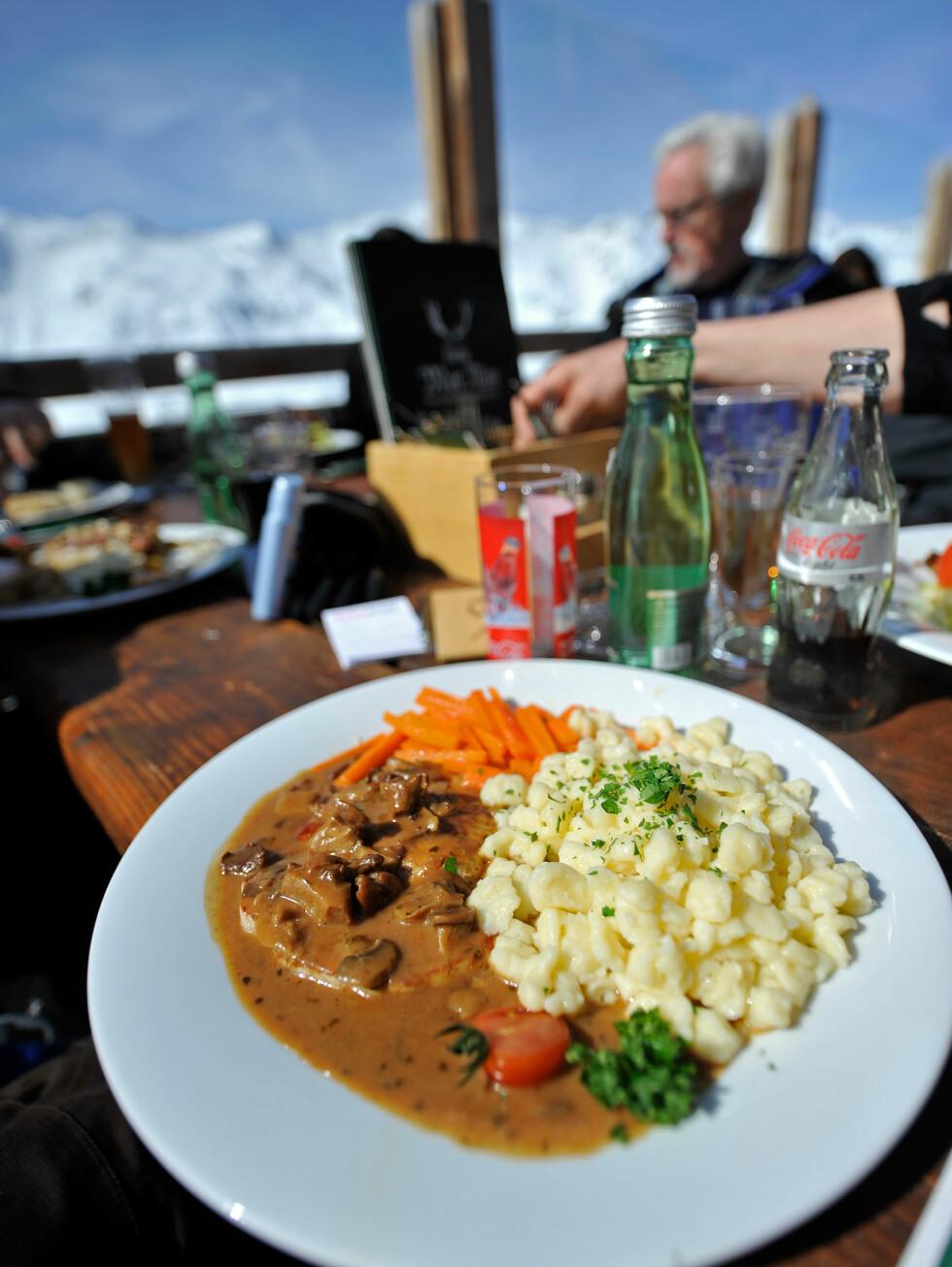 Østerriksk kost er tung, men god. Perfekt for lange skidager.   Foto: Hans Kristian Krogh-Hanssen