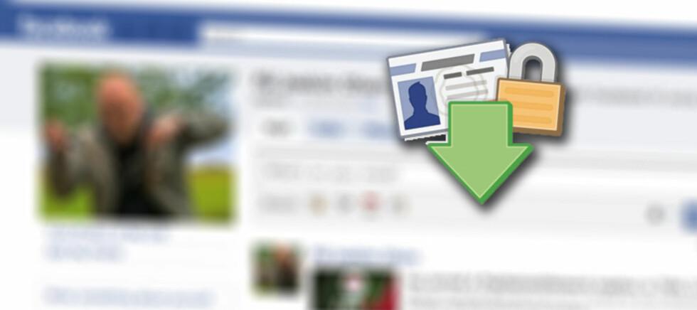 Alt du har gitt fra deg av informasjon til Facebook kan du hente ned igjen.