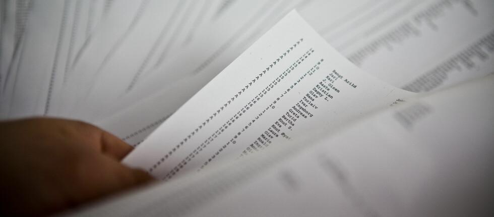 Nær 217.0000 personer på svarteliste: Rekordmange nordmenn sliter med å gjøre opp for seg, viser nye tall fra kredittinformasjonsselskapet Experian. Foto: Per Ervland