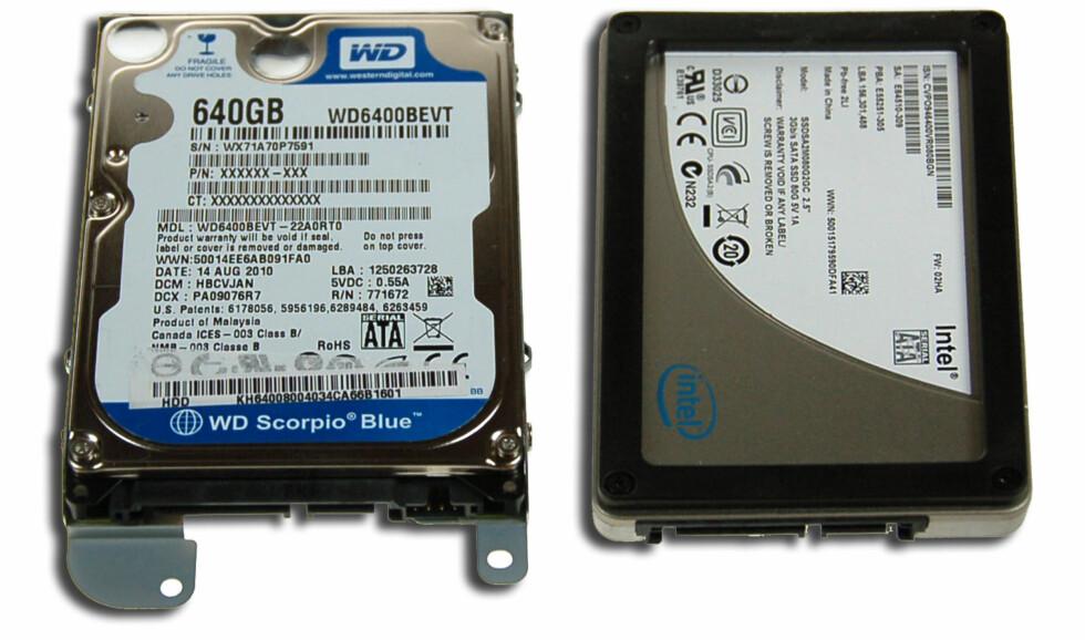 SSD: Så mye raskere ble den bærbare