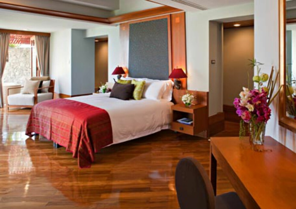 Dette er et av de finere rommene på spahotellet Chiva Som. Foto: Chiva Som