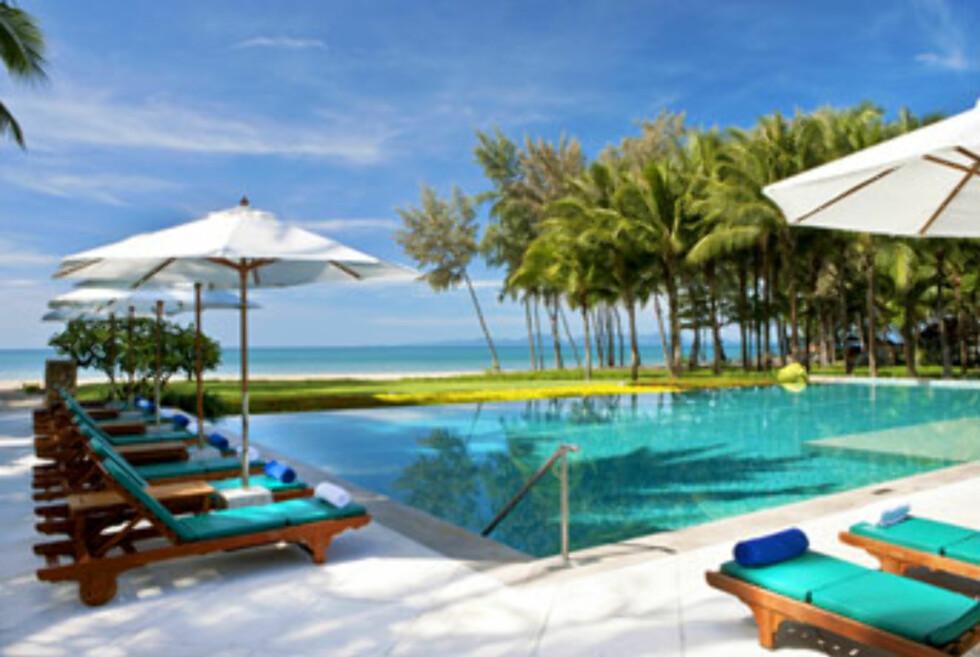 Fra basseongområdet på Sheraton Krabi Beach Resort. Foto: Sheraton Krabi Beach Resort