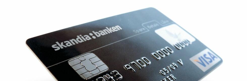 Skandiabanken tilbyr fortsatt laveste rente på bruk av kredittkort. Foto: Skandiabanken
