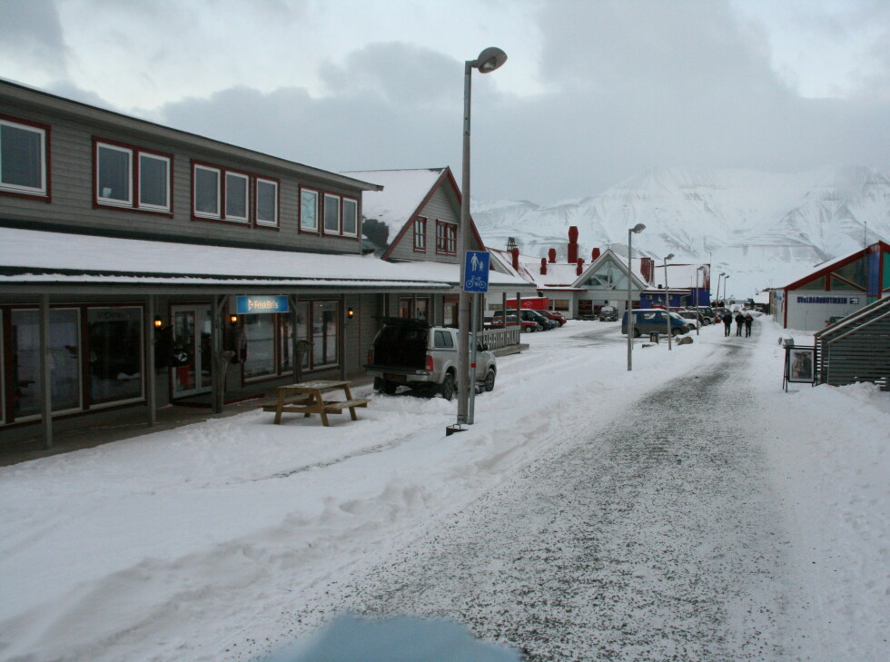Handlegata i Longyearbyen Foto: Kristin Sørdal