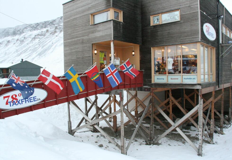 Taxfree i Longyearbyen Foto: Kristin Sørdal