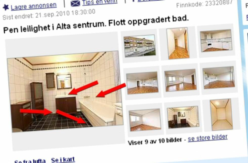 Sjekklisten: Se hva rørleggerne ser etter når de selv er på visning. Foto: Finn.no/DinSide