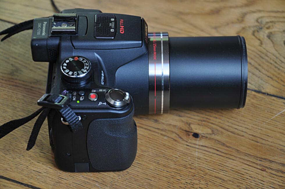 Slik ser kameraet ut når du bruker den lengste brennvidden. Foto: Pål Joakim Olsen