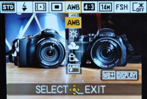 """Panasonics """"Q Menu"""" gir deg kjapp tilgang til de mest aktuelle innstilingene. Foto: Pål Joakim Olsen"""