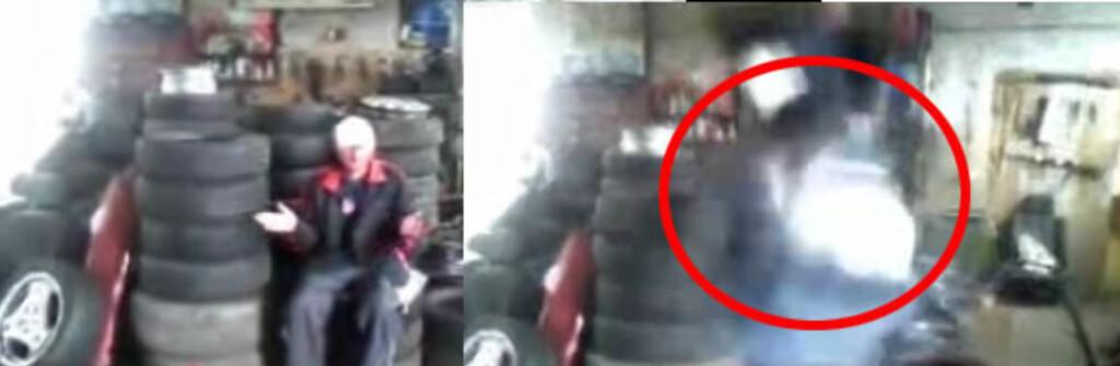 Den brutale Youtube-videoen demonstrerer kraften i airbag-utstyret på skremmende vis. Foto: Youtube