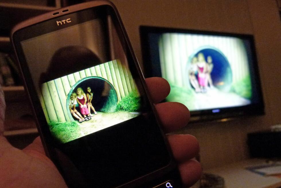 Med Twonky kjørende på Android-telefonen, kan du vise bildene direkte på TV, om den er DLNA-kompatibel.