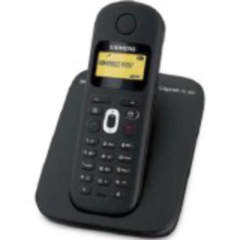 Her er Elkjøps mest solgte trådløse telefon, Gigaset GIGAAL180. Den kan lagre 40 navn og nummer. Foto: Produsenten/Elkjøp.no