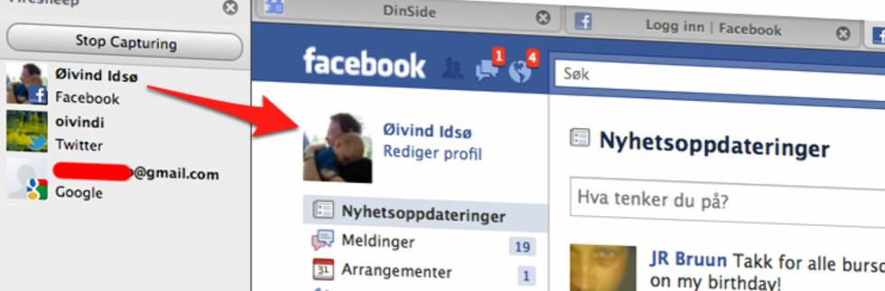 Via et nettlesertillegg og et dobbeltklikk fikk artikkelforfatter logget inn på Facebook som en kollega. Skremmende.