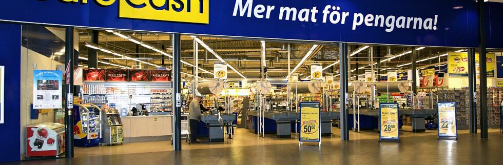 Nordmenn setter nye rekorder i grensehandel. Her fra en av de populære dagligvarebutikkene over grensen. Foto: EuroCash