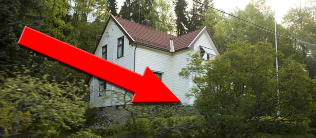 Eneboliger falt i pris, og trakk ned prisstatistikken for tredje kvartal i år.  Foto: Per Ervland