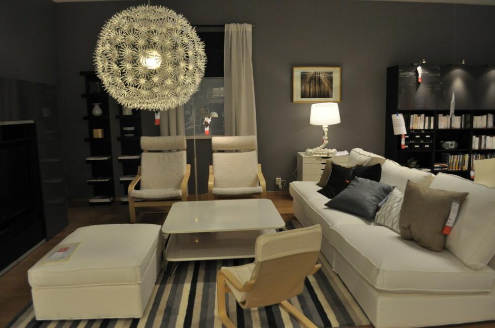 Fra stue-avdelingen Foto: Ikea
