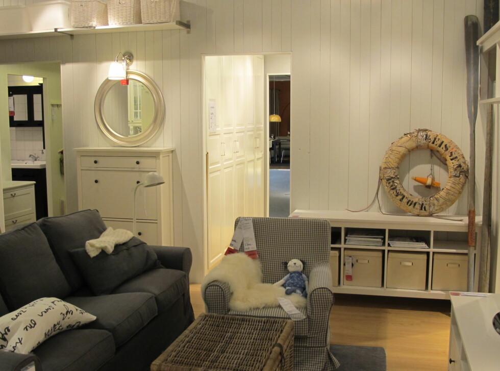En egen avdeling på nye Ikea er innredet for å inspirere hytteeiere. Foto: Ikea