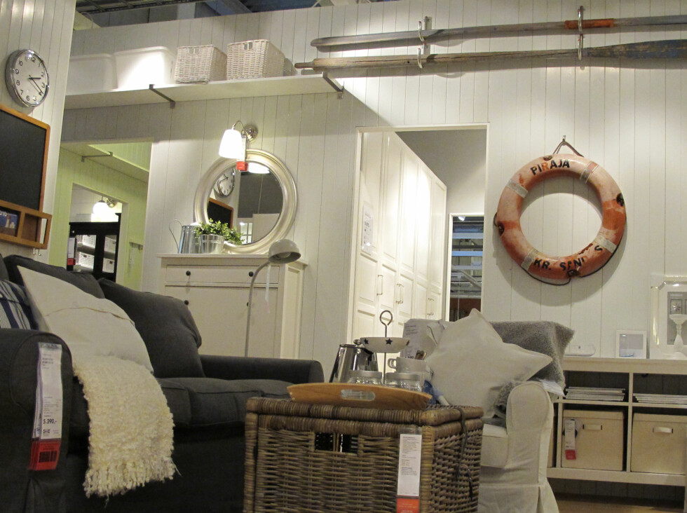 Fra hytteutstillingen.                       Foto: Ikea